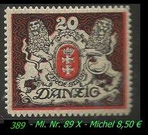 Mi. Nr. 89 X - Postfrisch - Danzig
