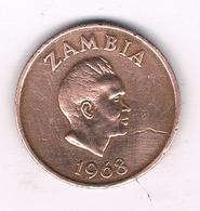 2 NGWEE  1968 ZAMBIA /1610/ - Zambie
