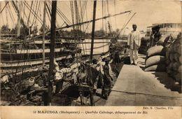 CPA MAJUNGA Quai De Cabotage Debarquement Du Riz MADAGASCAR (709585) - Madagascar