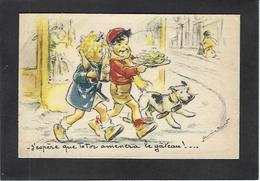 CPA Chien Dog Germaine BOURET Voir Scan Du Dos Publicité - Bouret, Germaine