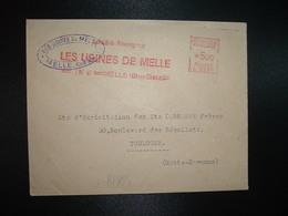 LETTRE EMA C 2231 à 500 Du 1 IV 48 MELLE (Deux-Sèvres) LES USINES DE MELLE - Marcophilie (Lettres)
