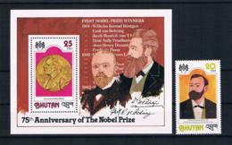 Bhutan 1978 Nobelpreis Mi.Nr. 716A + Block 77A ** - Bhutan
