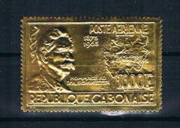 Gabun 1965 Nobelpreis Mi.Nr. 233 ** Gold - Gabun (1960-...)