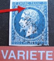 R1917/29 - NAPOLEON III N°14A - VARIETE ➤➤➤ Perle Blanche Au Dessus De La Tête - 1853-1860 Napoleon III