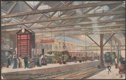 Waterloo Station, L&SWR, London, 1910 - Tuck's Oilette Postcard - London