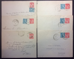 PEPO6 Entiers Postaux 6 Enveloppes Iris Saône Et Loire + Haute Saône Demigny Vitrey Sur Mancé Port Sur Saône - Postal Stamped Stationery