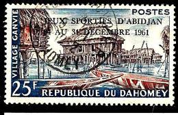 DAHOMEY  170° 25f Violet-brun, Rouge Et Bleu Jeux D'Abidjan (10% De La Cote + 0,15) - Bénin – Dahomey (1960-...)