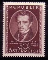 Timbres Neufs** D'autriche, N°778 Yt, Johann Strauss, Compositeur, Musique - 1945-60 Neufs