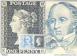 MONACO:1990 N° Y.T 1719 Carte Maximum:  Sir Rowland HILL  Black Penny - Rowland Hill