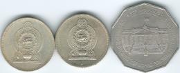 Sri Lanka - 5 Rupees - 1981 - Adult Franchise / Vote (KM146) 1984 (KM148.1) & 1986 (KM148.2) - Sri Lanka
