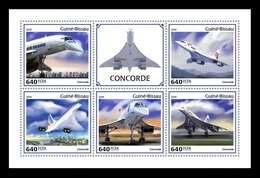 Guinea-Bissau 2018 Mih. 9888/92 Aviation. Supersonic Airliners Concorde MNH ** - Guinea-Bissau