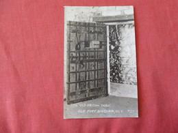 RPPC  The Old Prison Door  Old Fort Niagara  NY     Ref 3178 - Prison