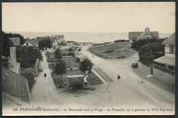 Préfailles - La Descente Vers La Plage - La Chapelle Et à Gauche La Villa San-Luis - N°124 J. Nozais - Voir 2 Scans - Préfailles