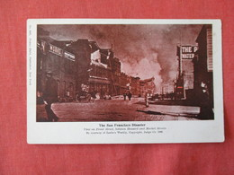 Disaster  San Francisco   Front Street  1906-------------ref 3178 - Catastrophes