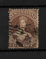 New Zealand 1864 6d Brown, Wmk Large Star, Perf 12.5 SG 122/122a (7351) - 1855-1907 Crown Colony