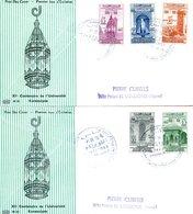 """Maroc,2 FDC 1960,n°405/409""""1100ème Anniversaire De La Karaouiyne """"Morocco,Marruecos - Maroc (1956-...)"""