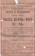 Biglietto Tram - Palermo - Piazza Marina/Noce - Societa' Sicula Tramways - Omnibus - Tramways