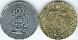 Sri Lanka - 5 Rupees - 2014 - Bank Of Ceylon 75th Anniversary & 2016 Standard Issue - Sri Lanka