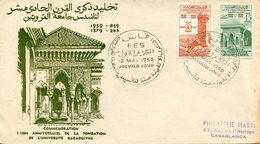 """Maroc,FDC 1960,""""1100ème Anniversaire De La Karaouiyne """"Morocco,Marruecos - Maroc (1956-...)"""