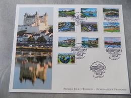 Premier Jour (FDC) Grand Format France 2013 : Les Petits Ruisseaux Font Les Grandes Rivières (série Complète) - FDC
