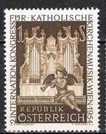 Timbres Neufs** D'autriche, N°841 Yt, Congrès International De Musique Des églises Catholiques, Grandes Orgues, Séraphin - 1945-.... 2de Republiek