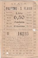 Biglietto Tram - Palermo - S.Flavia - I.T.A.C.O. - Tramways