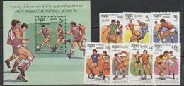 Kampuchea, 1986, 7 Stamps +s/s Block - Wereldkampioenschap