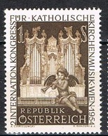 Timbres Neufs** D'autriche, N°841 Yt, Congrès International De Musique Des églises Catholiques, Grandes Orgues, Séraphin - 1945-60 Neufs