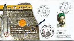 FRANCE - GUYANA GUIANA FRENCH 2004 ARIANE 518, Satellite ROSETTA Numbered FDC - Guyana (1966-...)