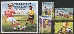Antigua & Barbuda, World Cup 1986, 4 Stamps +s/s Block 27 Euro - Wereldkampioenschap
