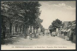 Préfailles - La Grande Rue - A Gauche, Hôtel Sainte-Marie - 115 J. Nozais éditeur - Voir 2 Scans - Préfailles