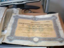 Dionica Srpske Centralne Privredne Banke 100 Dinara Sarajevo 1922 - Bosnia Y Herzegovina