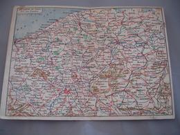 Carte Franchise 2 Volets Carte Du Front Les Flandres   Hatier Edit Guerre 14.18 - Postmark Collection (Covers)