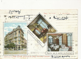 Buenos Aires Caviezel's New Hotel Avenida De Mayo Esquina Tacuari Circulada 1909 - Argentine