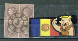 ESPAGNE SPAIN ESPAÑA ISABEL II EDIFIL 56 B-4 (CARRETA) - 1850-68 Kingdom: Isabella II