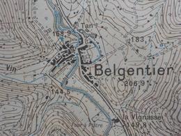 Carte Topog.  1/20 000° - I.G. Armée CUERS N°7 - 1932-(dont Méounes, Belgentier, Solliès-Toucs, Montrieux Etc... - Cartes Topographiques