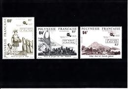 POLYNESIE   1991 LE MONDE MAHOI  NEUFS XX N°379 A 381 - Polynésie Française