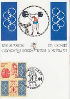 Carte Maximum 1er Jour MONACO 101éme Session Du Comité International Olympique 1993 Haltérophilie - Autres
