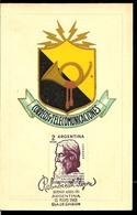 AATM-128 ARGENTINA 1961 RABINDRANATH TAGORE 100° ANIV.ECRIVAN,CARTE MAXIME MAXIMUM CARD - Schrijvers