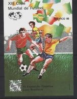 Brazil, Brasil World Cup 1986, S/s Block - 1986 – Mexico