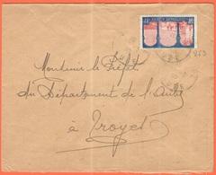 FRANCIA - France - 1930 - 50c Centenaire De L'Algérie - Viaggiata Da Bar-sur-Seine Per Troyes - Storia Postale