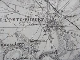 Carte Topog.  1/80 000° Tirage 1931 - Environs De Paris - Cartes Topographiques