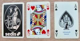 JEU DE 52 CARTES ET 3 JOKER SANS ETUI 59 SEDIS / GRIMAUD FRANCE - Cartes à Jouer Classiques