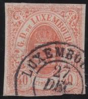 Luxemburg     .     Yvert  .     11  Signed         .        O    .          Gebruikt   .     /   .     Cancelled - 1859-1880 Wapenschild