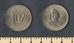 Zaire 10 Zaires 1988 - Zaïre (1971-97)