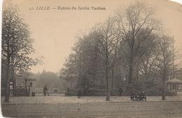 CPA 59 LILLE Entrée Du Jardin Vauban 1905 Petite Animation - Lille