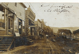 Real Photo Clifton Arizona Main Street  1909 One Crease Bottom Left Corner - Etats-Unis