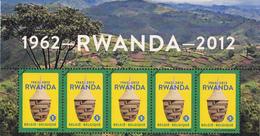 België - 50 Jaar Onafhankelijkheid Rwanda En Burundi  - Rwandees Mandje/Burundese Trom - OBP 4240-4241 - Postzegels (afbeeldingen)