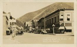 Real Photo Wallace Idaho  Looking East On Cedar Street - Etats-Unis