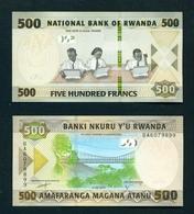 RWANDA  -  2019  500 Francs UNC Banknote - Rwanda